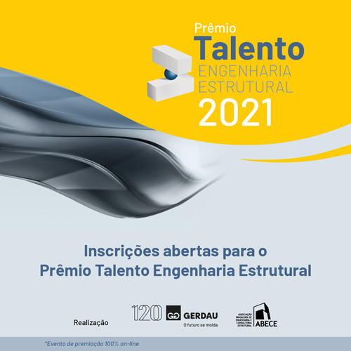 Inscrições abertas para o Prêmio Talento Engenharia Estrutural