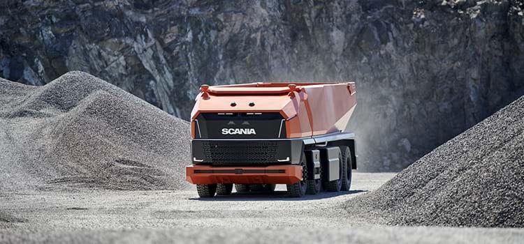 Scania mostra caminhão autônomo sem cabine para motorista