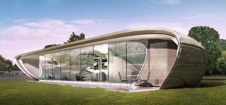 A primeira casa impressa em 3D com formas orgânicas entra na fase de desenvolvimento